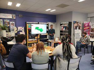 Partecipation à des cafes linguistiques et autres activites sur la mobilité europeen
